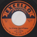 "Pochette de ""I'm A Lover, Not A Fighter"" par LAZY LESTER (1958)"